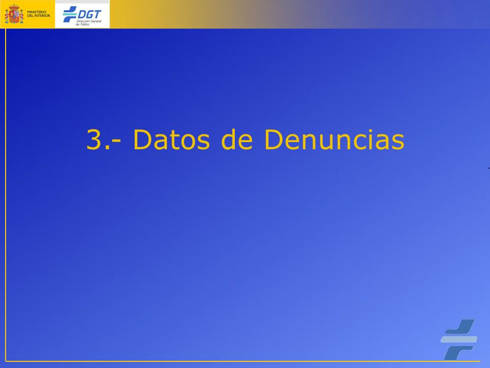 3.- Datos de Denuncias