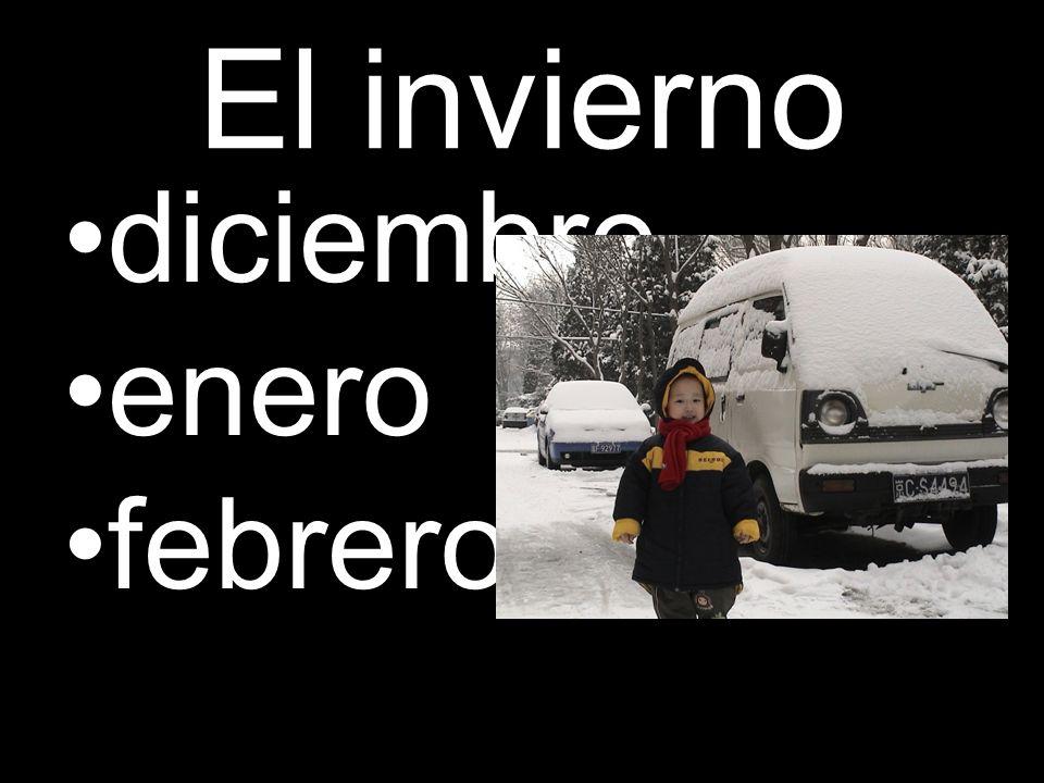 El invierno diciembre enero febrero