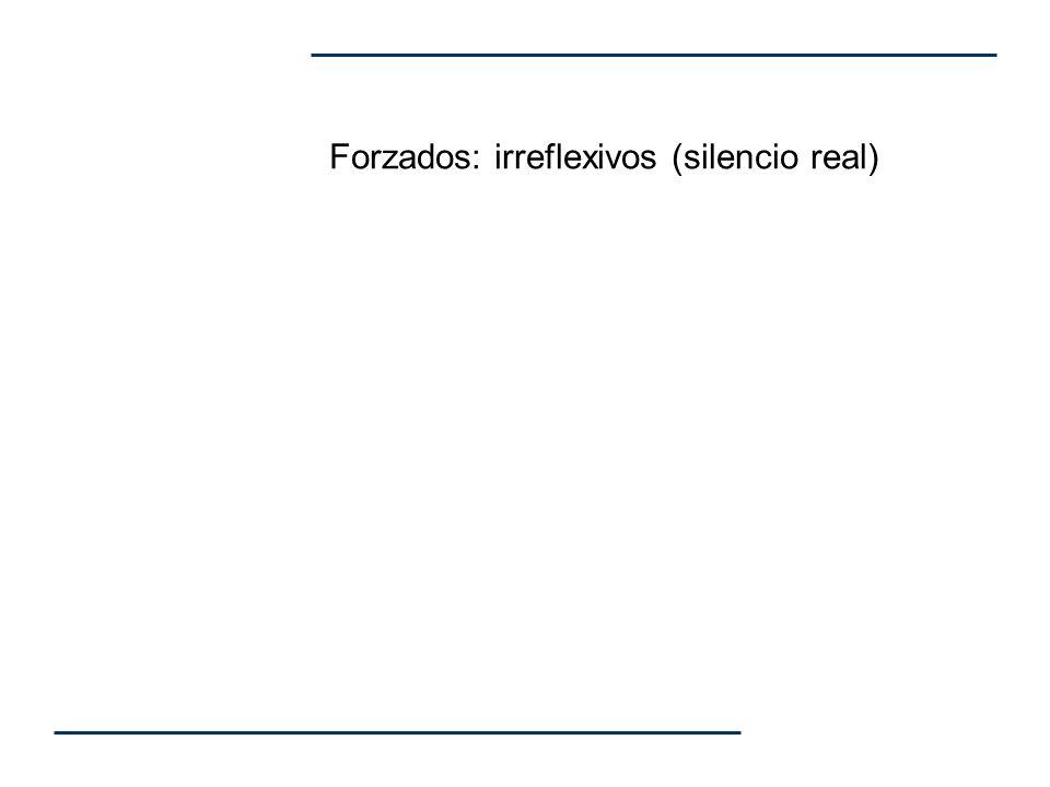 Forzados: irreflexivos (silencio real)