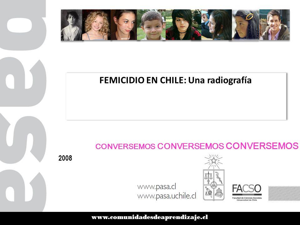 www.comunidadesdeaprendizaje.cl FEMICIDIO EN CHILE: Una radiografía 2008 CONVERSEMOS CONVERSEMOS CONVERSEMOS