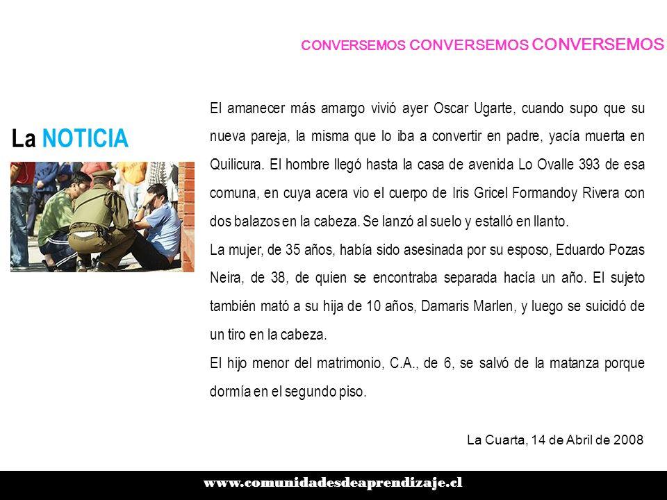 Geografía DEL FEMICIDIO www.comunidadesdeaprendizaje.cl CONVERSEMOS CONVERSEMOS CONVERSEMOS La Región de Los Ríos enfrentó su primer femicidio.
