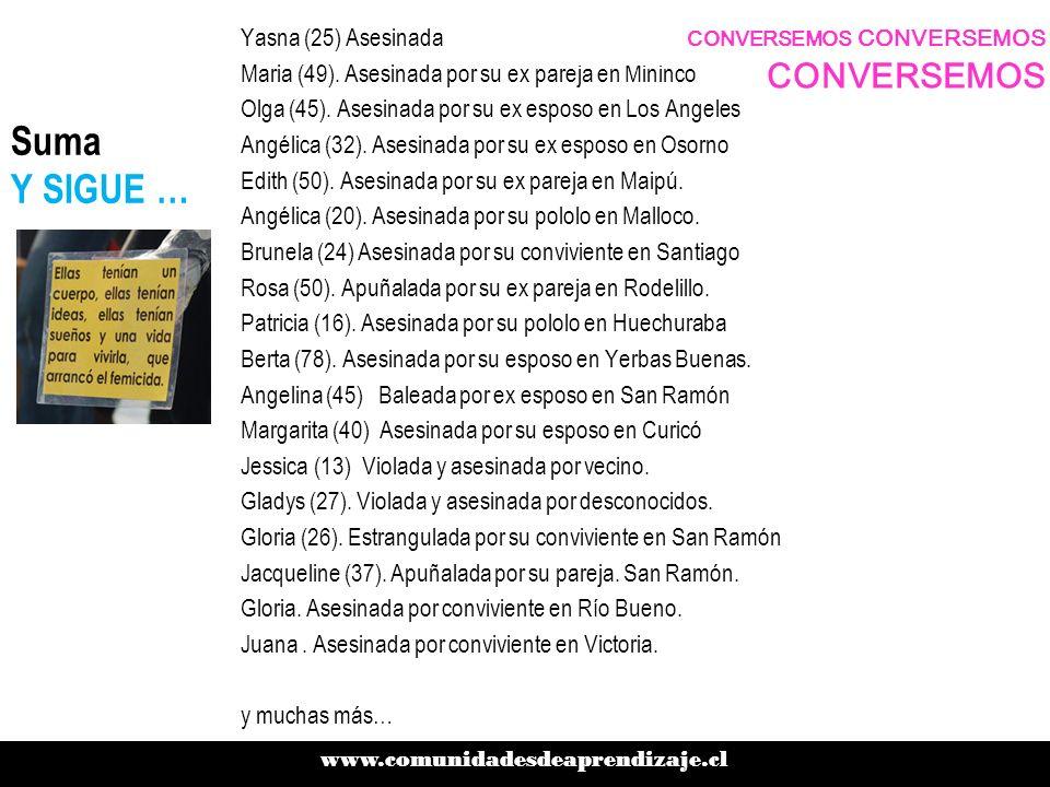 Los ROSTROS DE LAS VICTIMAS Verónica Vásquez, educadora de párvulos, 49 de años, un hijo de 9 años.