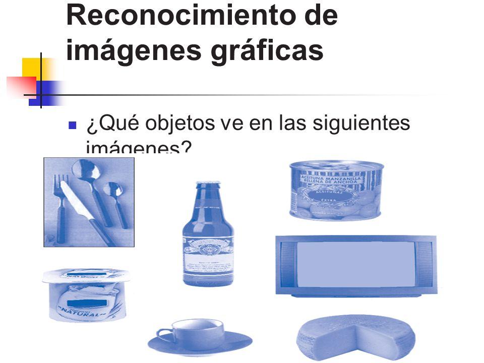 Reconocimiento de imágenes gráficas ¿Qué objetos ve en las siguientes imágenes?