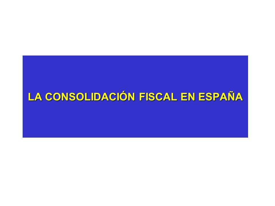 LA CONSOLIDACIÓN FISCAL EN ESPAÑA