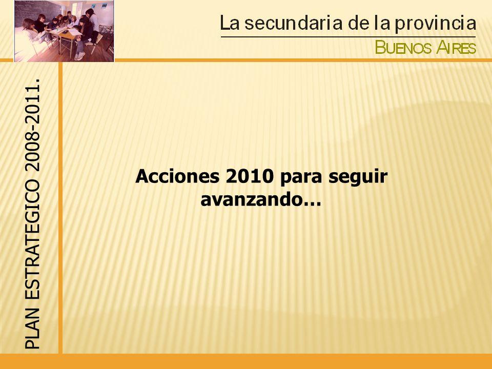 Acciones 2010 para seguir avanzando… PLAN ESTRATEGICO 2008-2011.