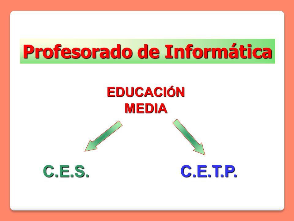 ESPACIOS CURRICULARESTRAYECTOSASIGNATURAS 1º1º 2º2º 3º3º ESPACIO CURRICULAR DE EQUIVALENCIA TRAYECTO I Comunicaci ó n y Expresi ó n AN Á LISIS Y PRODUCCI Ó N DE TEXTOS 33- INGL É S 333 TRAYECTO II Ciencias Naturales y Matem á tica BIOLOG Í A (CIENCIA, TECNOLOG Í A Y SOCIEDAD) --3 MATEM Á TICA 336 QU Í MICA (CIENCIA, TECNOLOG Í A Y SOCIEDAD) -3- TRAYECTO III Filosof í a y Ciencias Sociales CIENCIAS SOCIALES - HISTORIA3-- CIENCIAS SOCIALES - ECONOM Í A -3- CIENCIAS SOCIALES - SOCIOLOG Í A --3 FILOSOF Í A --3 ESPACIO CURRICULAR TECNOL Ó GICO TRAYECTO I Comunicaci ó n y Expresi ó n L Ó GICA PARA COMPUTACI Ó N 2222 -- TRAYECTO II Ciencias Naturales y Matem á tica AN Á LISIS Y DISE Ñ O DE APLICACIONES -- 3333 DISE Ñ O DE P Á GINAS WEB- 2222 - ELECTRICIDAD 3333 -- ELECTR Ó NICA- 3333 - F Í SICA INFORM Á TICA 3333 -- GEOMETR Í A 3333 3333 - INTRODUCCI Ó N A LA COMPUTACI Ó N 2222 -- PROGRAMACI Ó N 2222 3333 3333 PROYECTO-- 2222 SISTEMAS DE BASES DE DATOS - 3333 3333 SISTEMAS OPERATIVOS 2222 3333 3333 TALLER DE MANTENIMIENTO 4444 4444 4444 TRAYECTO III Filosof í a y Ciencias Sociales FORMACI Ó N EMPRESARIAL --3 ESPACIO CURRICULAR OPTATIVO (ECO) 4 hs/sem OPCIONES DE PROFUNDIZACI Ó N PROFESIONAL * --- OPCIONES DE FORMACI Ó N GENERAL ** --- ESPACIO CURRICULAR DESCENTRALIZADO OPCIONES DEFINIDAS POR EL CENTRO EDUCATIVO (2 hs./sem.)--- TOTAL de horas semanales333639 Duración del Curso tres años de 3456 a 4032 horas