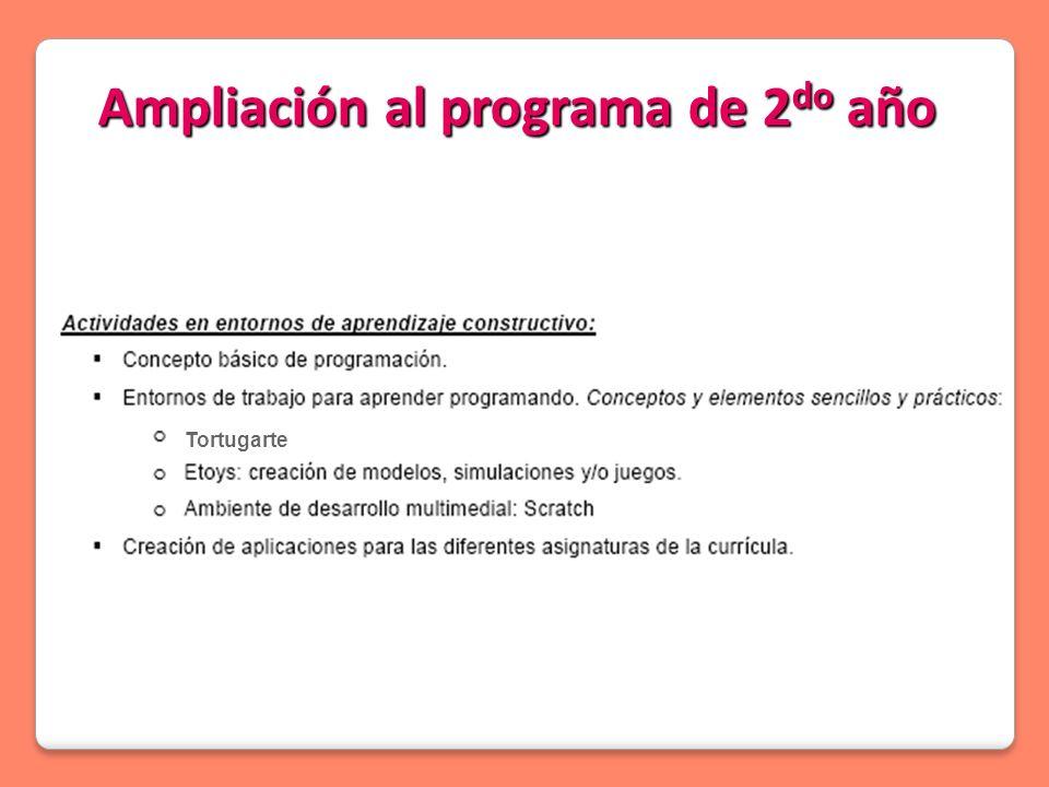 Ampliación al programa de 2 do año Tortugarte