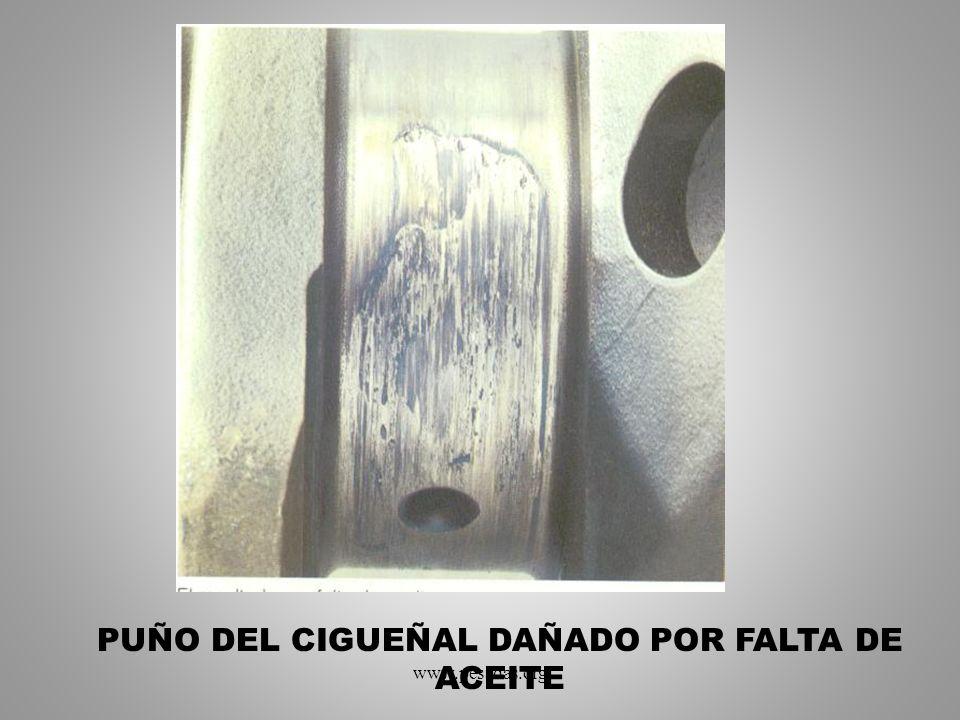 PUÑO DEL CIGUEÑAL DAÑADO POR FALTA DE ACEITE www.pesadas.org