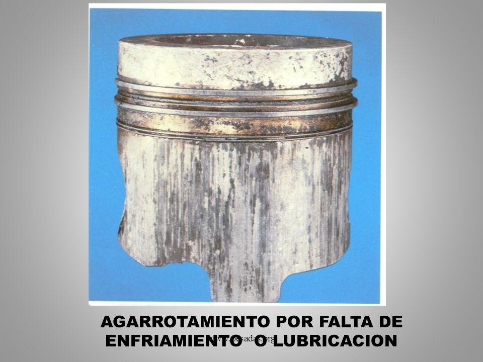 AGARROTAMIENTO POR FALTA DE ENFRIAMIENTO O LUBRICACION www.pesadas.org
