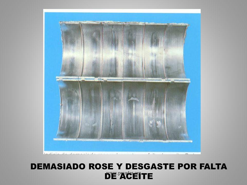 DEMASIADO ROSE Y DESGASTE POR FALTA DE ACEITE www.pesadas.org