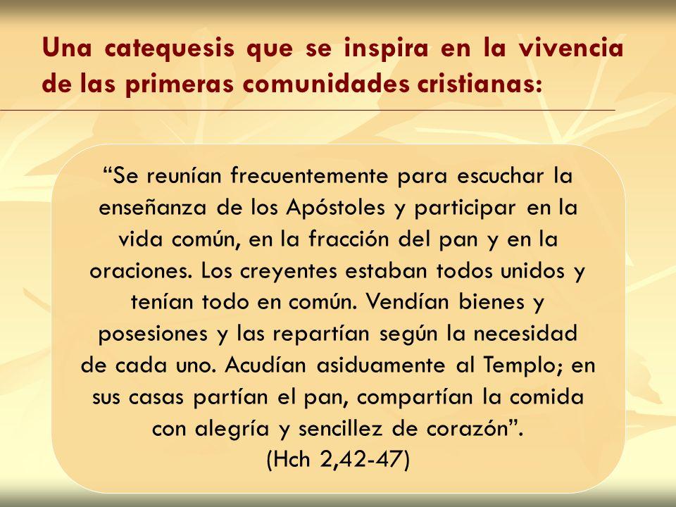 Se reunían frecuentemente para escuchar la enseñanza de los Apóstoles y participar en la vida común, en la fracción del pan y en la oraciones. Los cre