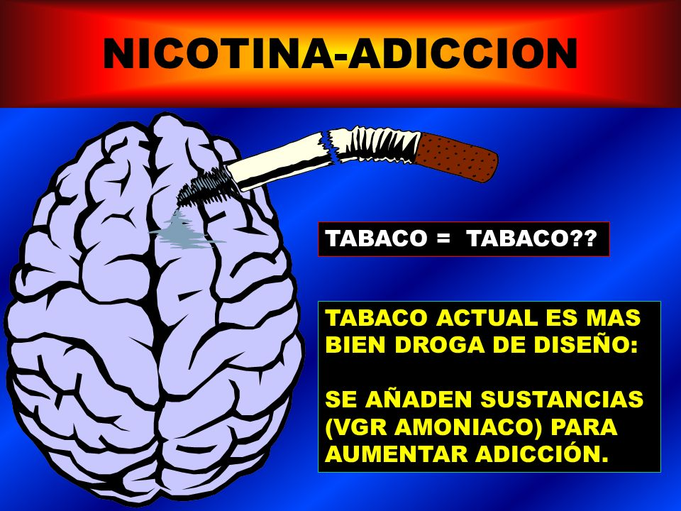 NICOTINA-ADICCION SINDROME DE ABSTINENCIA: 1)Malestar general, irritabilidad, inquietud, ansiedad, dificultad para concentrarse. 2)Craving 3)Somnolenc
