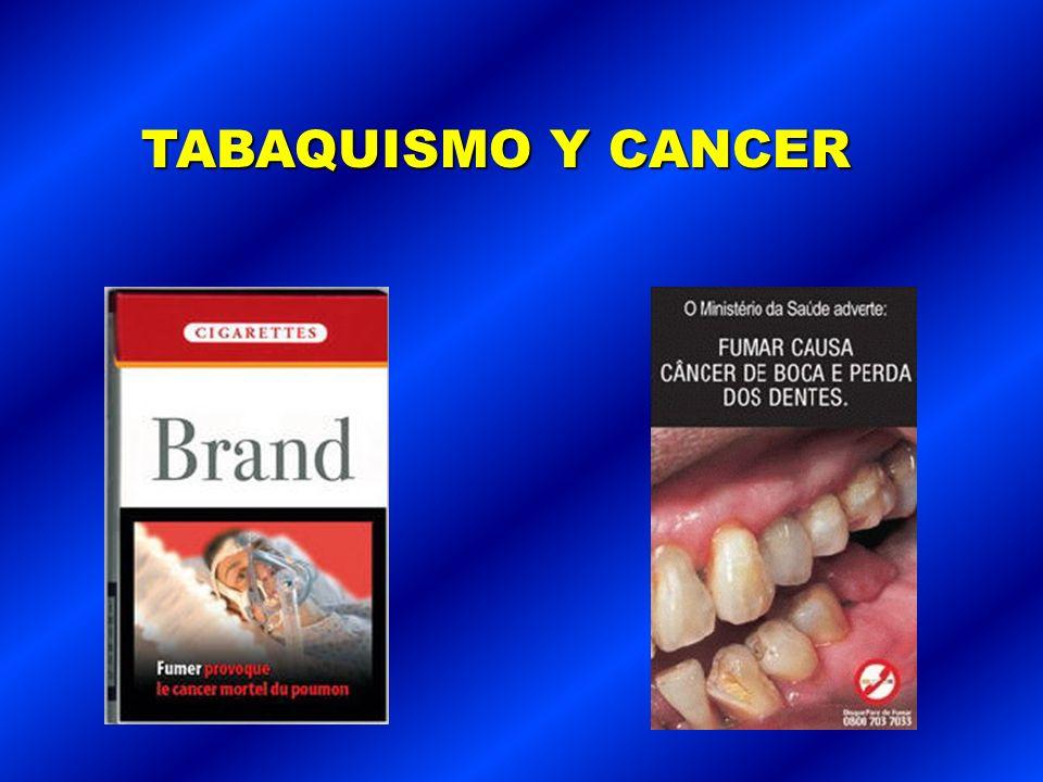 Consumo de tabaco es causa directa y conocida de al menos 25 enfermedades que incluyen: Infarto Cáncer de boca y esófago Cáncer de laringe Enfermedad