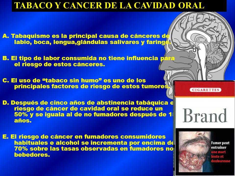 - TABACO Y CANCER DE PULMON: -SE HA ESTABLECIDO UNA RELACION DOSIS/RESPUESTA: 1.Número de cigarrillos consumidos al día 2.Edad de comienzo 3.Tipo de c