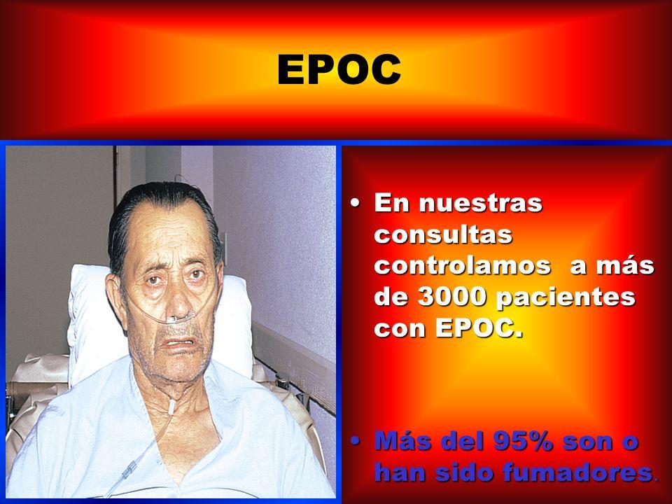 FUMADORES: *ALTA PREVALENCIA DE SINTOMAS RESPIRATORIOS INESPECIFICOS (TOS, PRODUCCIÓN DE ESPUTOS, DISNEA Y SIBILANCIAS) *AUMENTO DE INCIDENCIADE HIPERREACTIVIDAD BRONQUIAL INESPECIFICA+ *EPOC