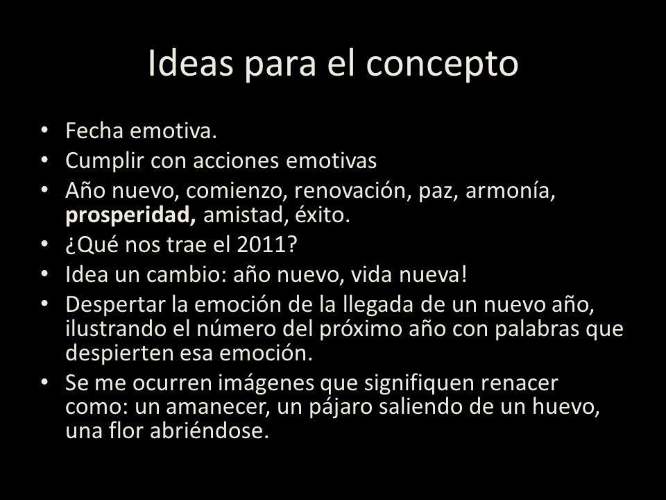Ideas para el concepto Fecha emotiva. Cumplir con acciones emotivas Año nuevo, comienzo, renovación, paz, armonía, prosperidad, amistad, éxito. ¿Qué n