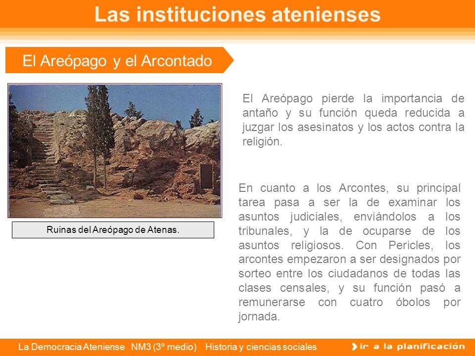 La Democracia Ateniense NM3 (3º medio) Historia y ciencias sociales La Heliaía Esta institución correspondía a los tribunales.