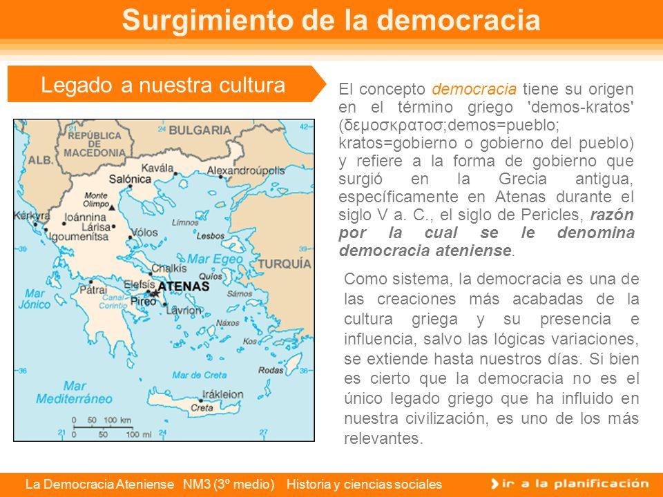 La Democracia Ateniense NM3 (3º medio) Historia y ciencias sociales Los magistrados Los magistrados eran los hombres libres que cumplían la labor de administrar el estado y estaban bajo un estricto control del pueblo.