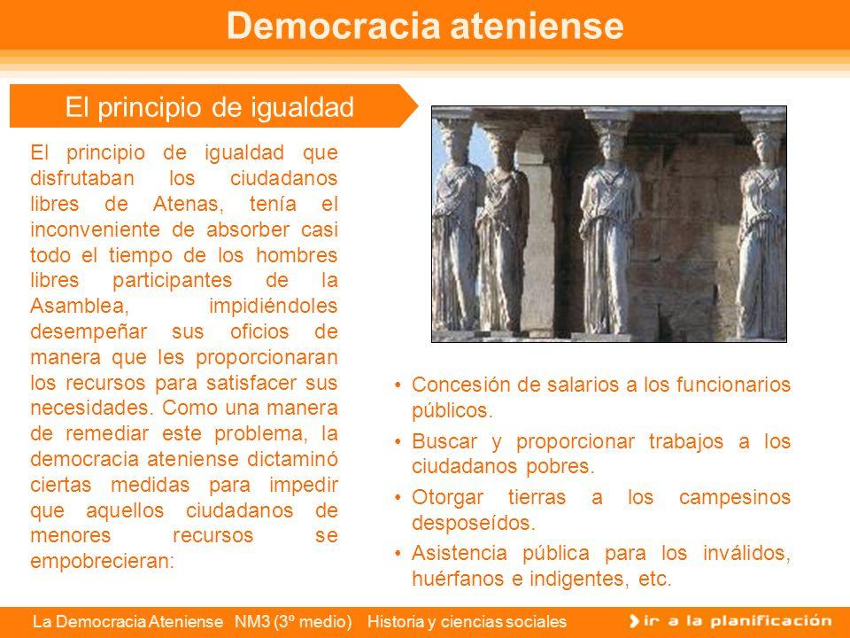 La Democracia Ateniense NM3 (3º medio) Historia y ciencias sociales Pueblo soberano El pueblo soberano ateniense se gobernaba a sí mismo, sin intermed