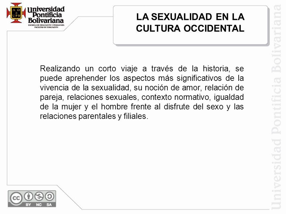 Realizando un corto viaje a través de la historia, se puede aprehender los aspectos más significativos de la vivencia de la sexualidad, su noción de a