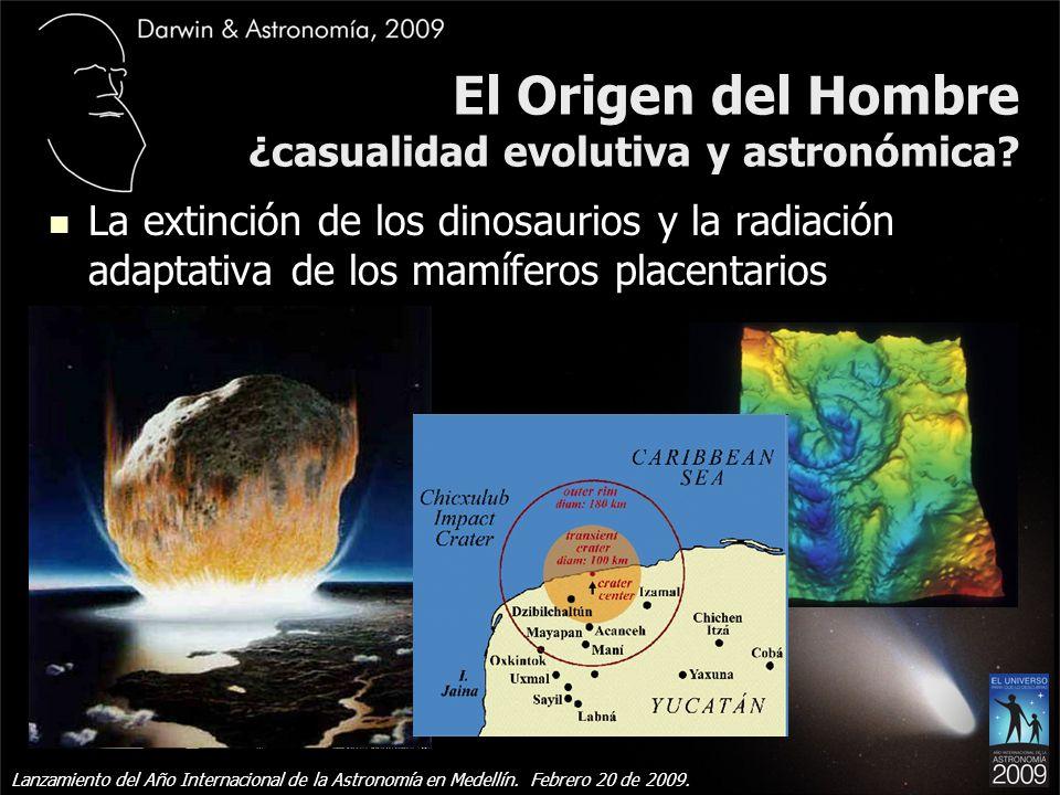 El Origen del Hombre ¿casualidad evolutiva y astronómica.