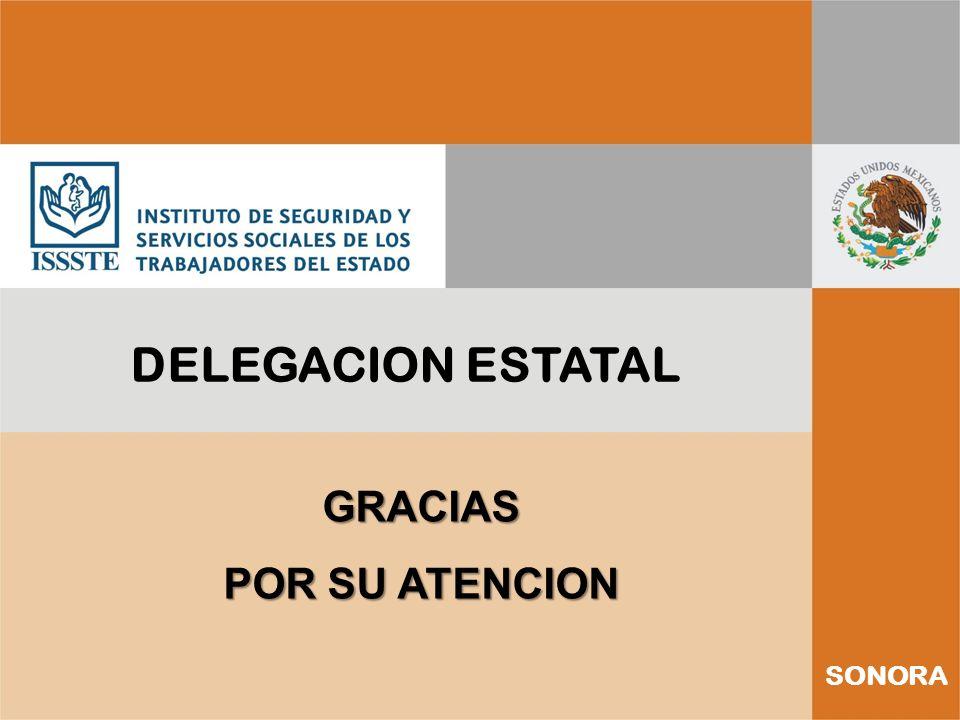 SONORA DELEGACION ESTATAL GRACIAS POR SU ATENCION