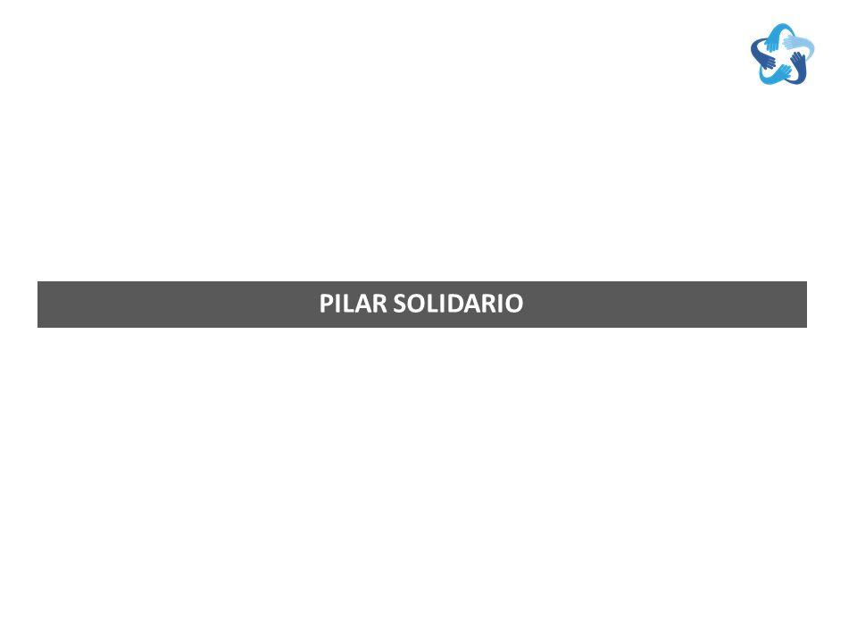 D ESCRIPCIÓN P ILAR S OLIDARIO El pilar solidario es un pilar no contributivo del Sistema de Pensiones chileno el cual fue profundizado y fortalecido por la Reforma previsional del año 2008.