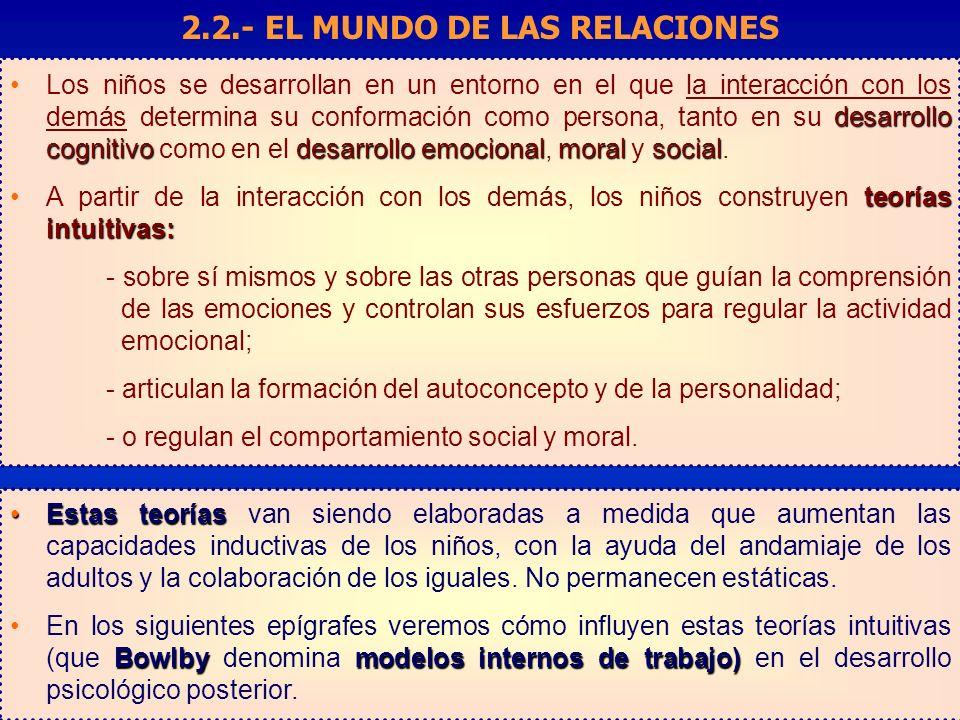 desarrollo cognitivodesarrollo emocionalmoralsocialLos niños se desarrollan en un entorno en el que la interacción con los demás determina su conformación como persona, tanto en su desarrollo cognitivo como en el desarrollo emocional, moral y social.
