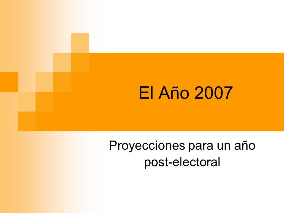 El Año 2007 Proyecciones para un año post-electoral