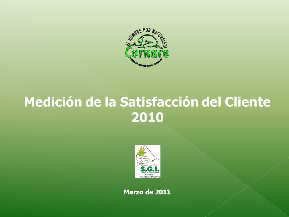 Medición de la Satisfacción del Cliente 2010 Marzo de 2011