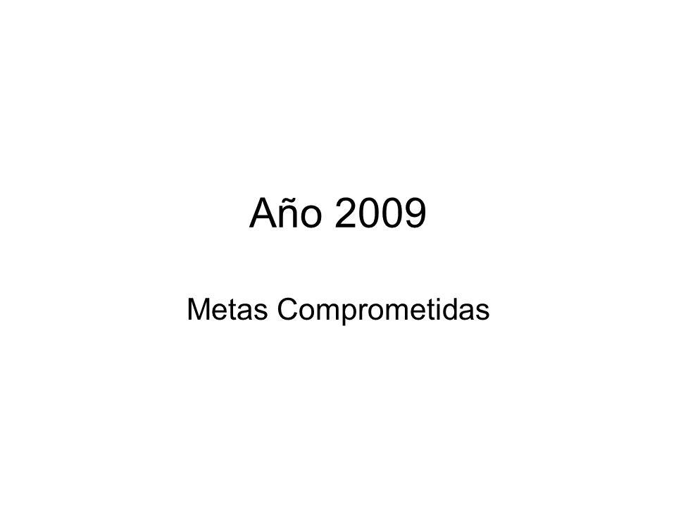Año 2009 Metas Comprometidas