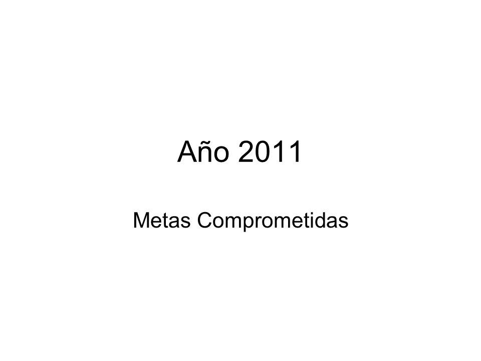 Año 2011 Metas Comprometidas