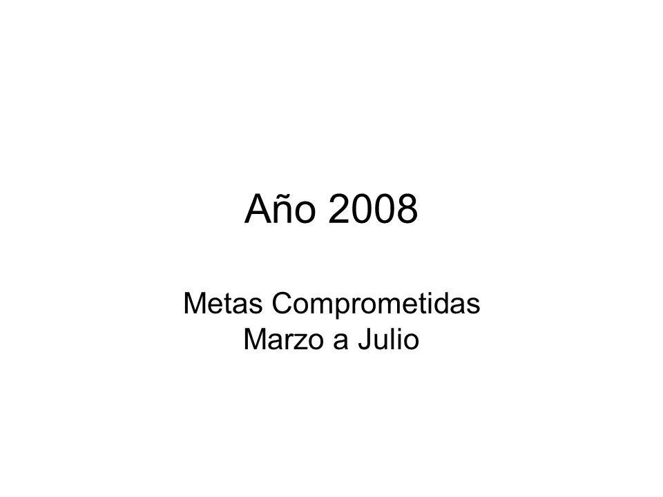 Año 2008 Metas Comprometidas Marzo a Julio
