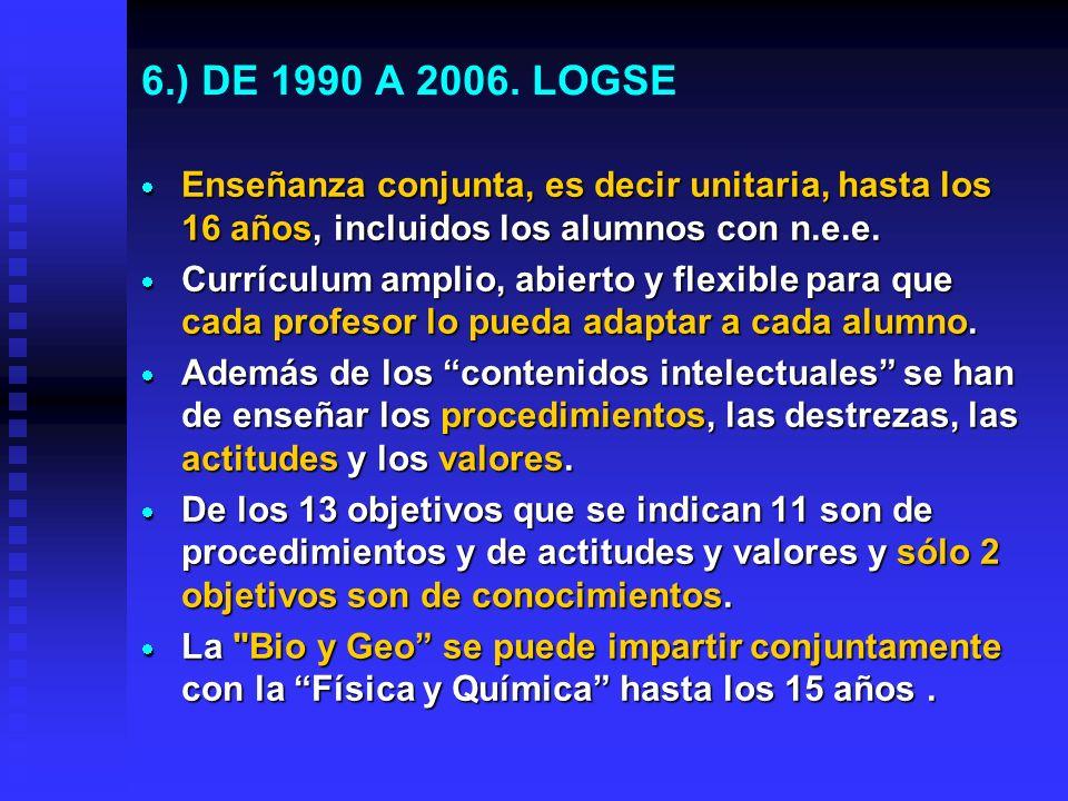 5.) DE 1970 A 1990. LEY GENERAL DE EDUCACIÓN (L. VILLAR PALASí) Los libros presentan modelos de prácticas Los libros presentan modelos de prácticas Lo