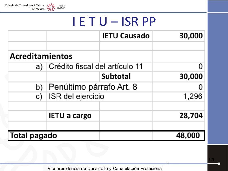 I E T U – ISR PP 61