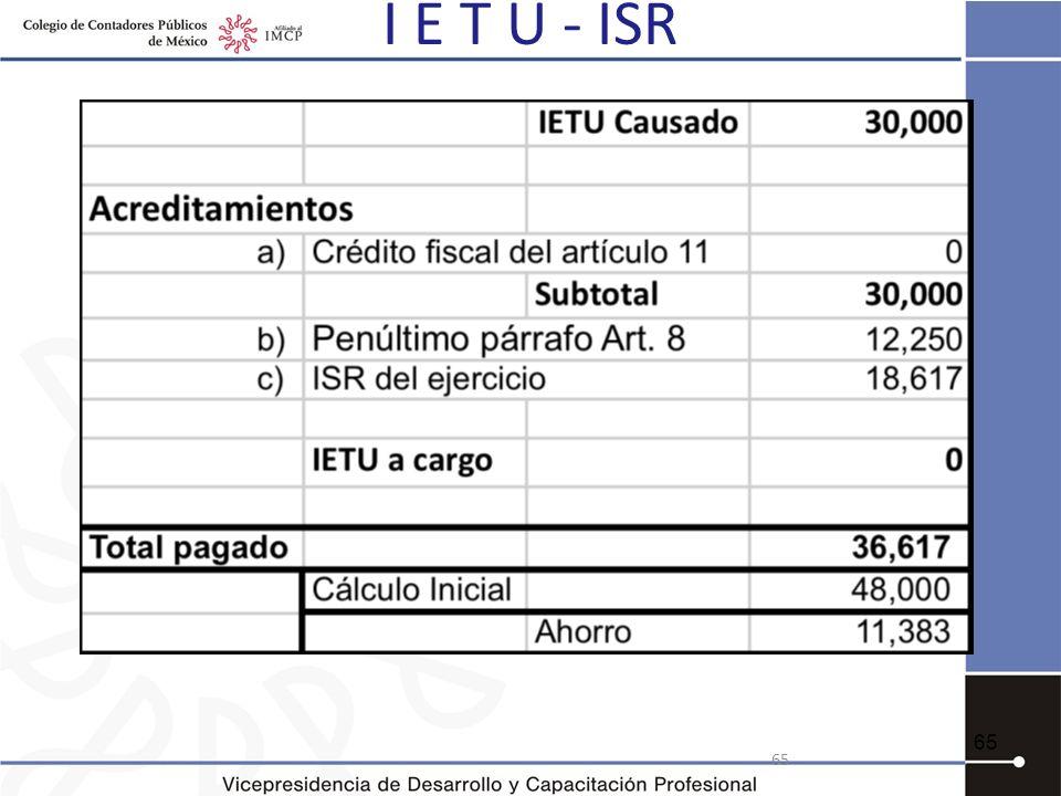 I E T U - ISR 65