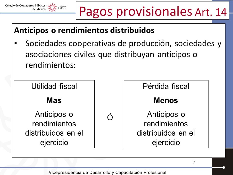 Pago provisional (Art. 9 IETU) 68