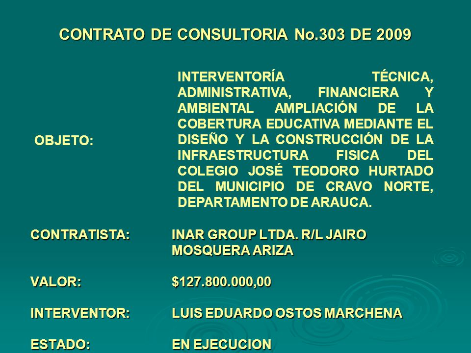CONTRATISTA:INAR GROUP LTDA.