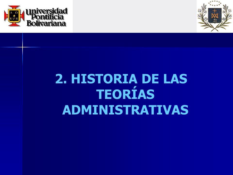 2. HISTORIA DE LAS TEORÍAS ADMINISTRATIVAS
