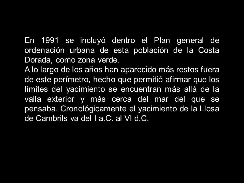 En 1991 se incluyó dentro el Plan general de ordenación urbana de esta población de la Costa Dorada, como zona verde.