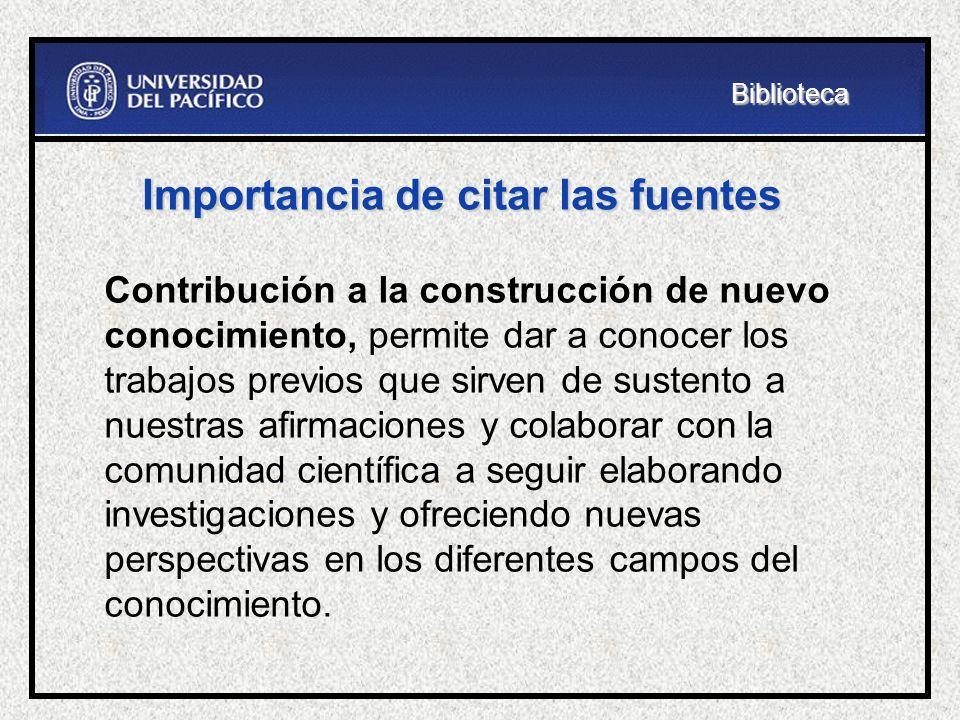 Herramienta para elaborar citas Citation Machine http://citationmachine.net/http://citationmachine.net/Biblioteca