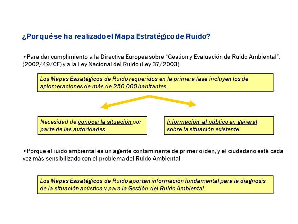 Para dar cumplimiento a la Directiva Europea sobre Gestión y Evaluación de Ruido Ambiental. (2002/49/CE) y a la Ley Nacional del Ruido (Ley 37/2003).