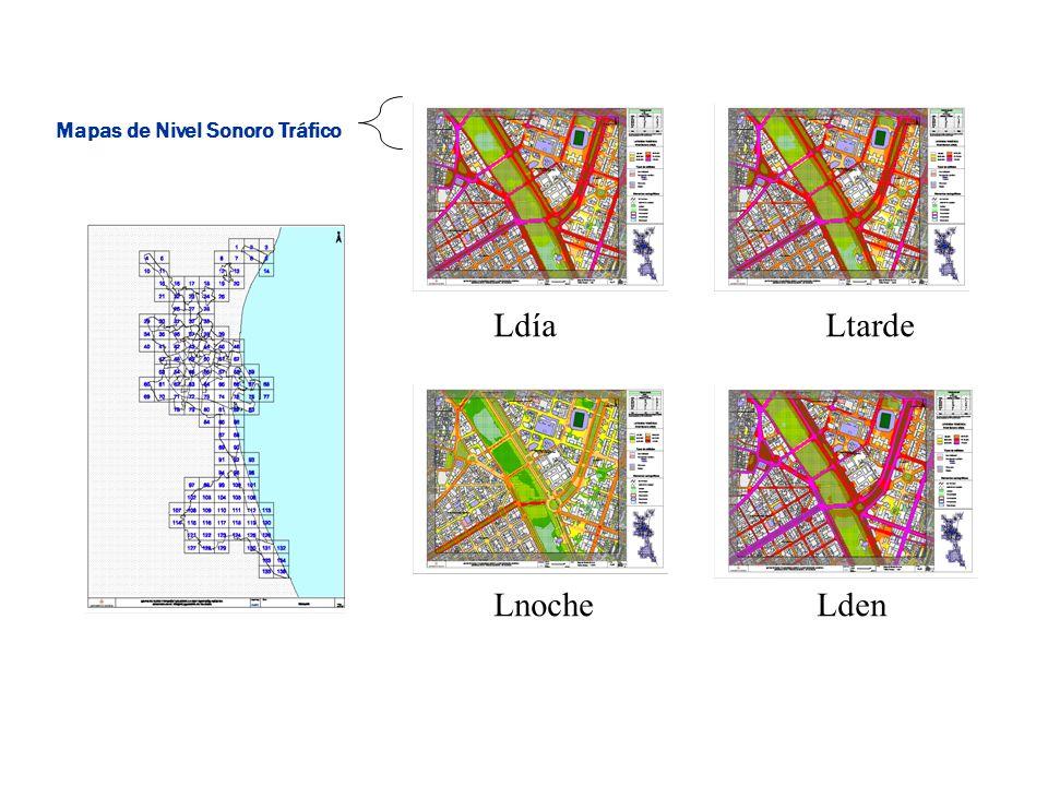 LdíaLtarde LnocheLden Mapas de Nivel Sonoro Tráfico