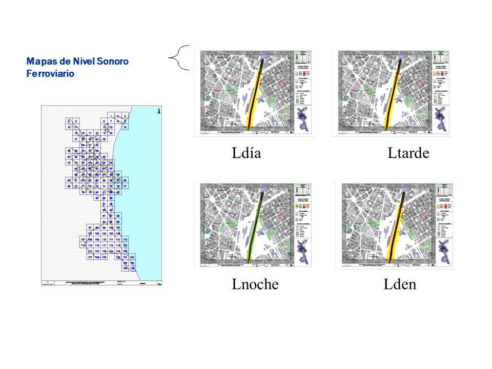 LdíaLtarde LnocheLden Mapas de Nivel Sonoro Ferroviario