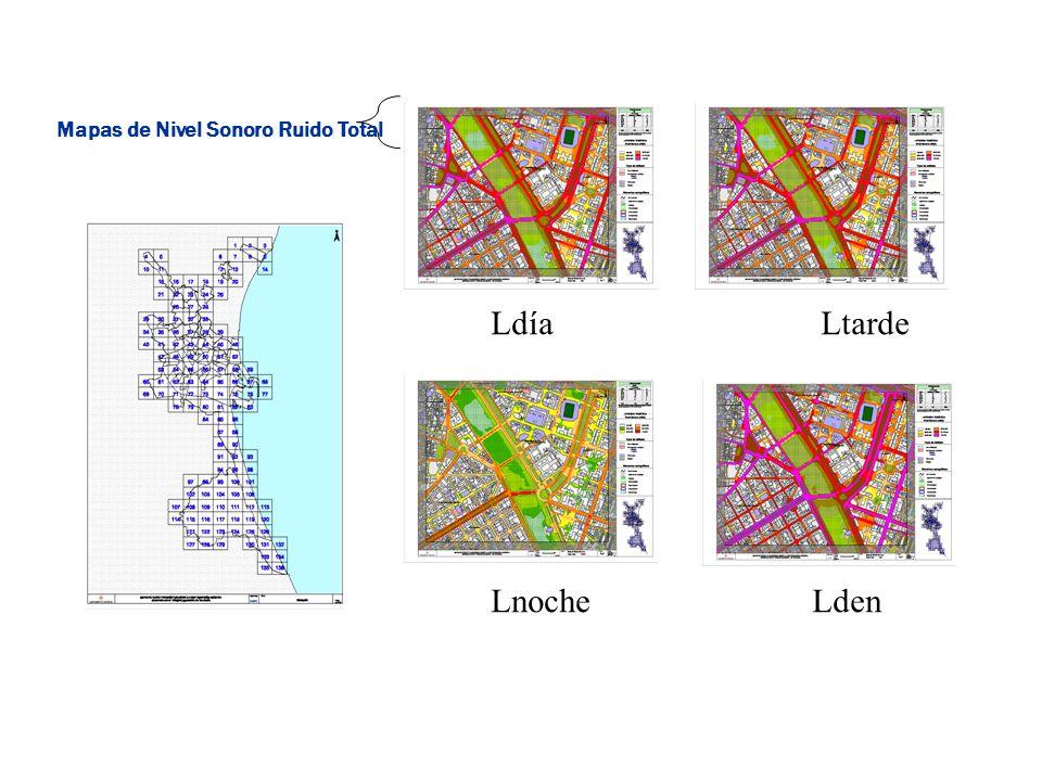 LdíaLtarde LnocheLden Mapas de Nivel Sonoro Ruido Total