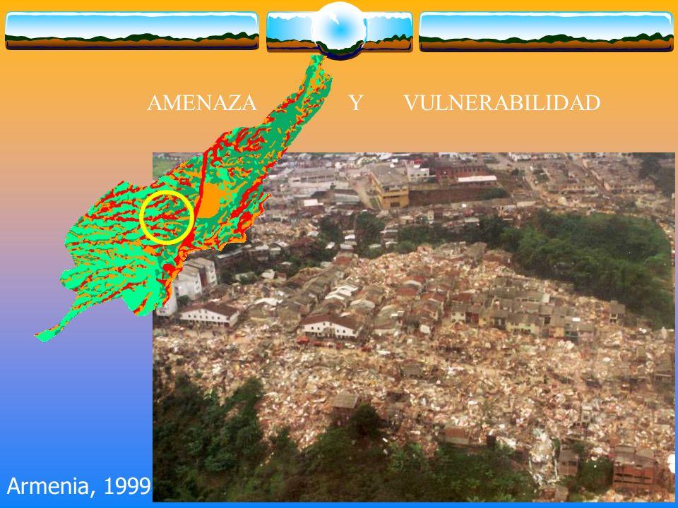 AMENAZA Y VULNERABILIDAD Armenia, 1999