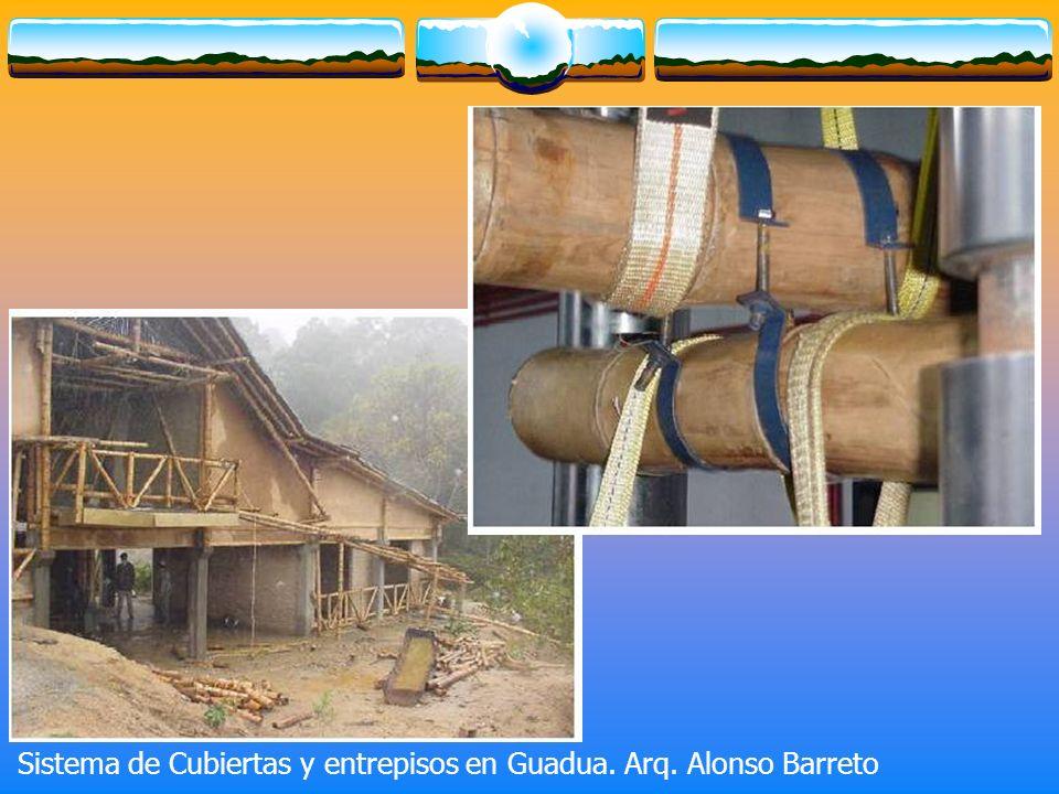 Sistema de Cubiertas y entrepisos en Guadua. Arq. Alonso Barreto