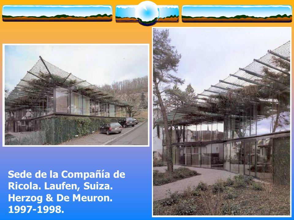 Sede de la Compañía de Ricola. Laufen, Suiza. Herzog & De Meuron. 1997-1998.