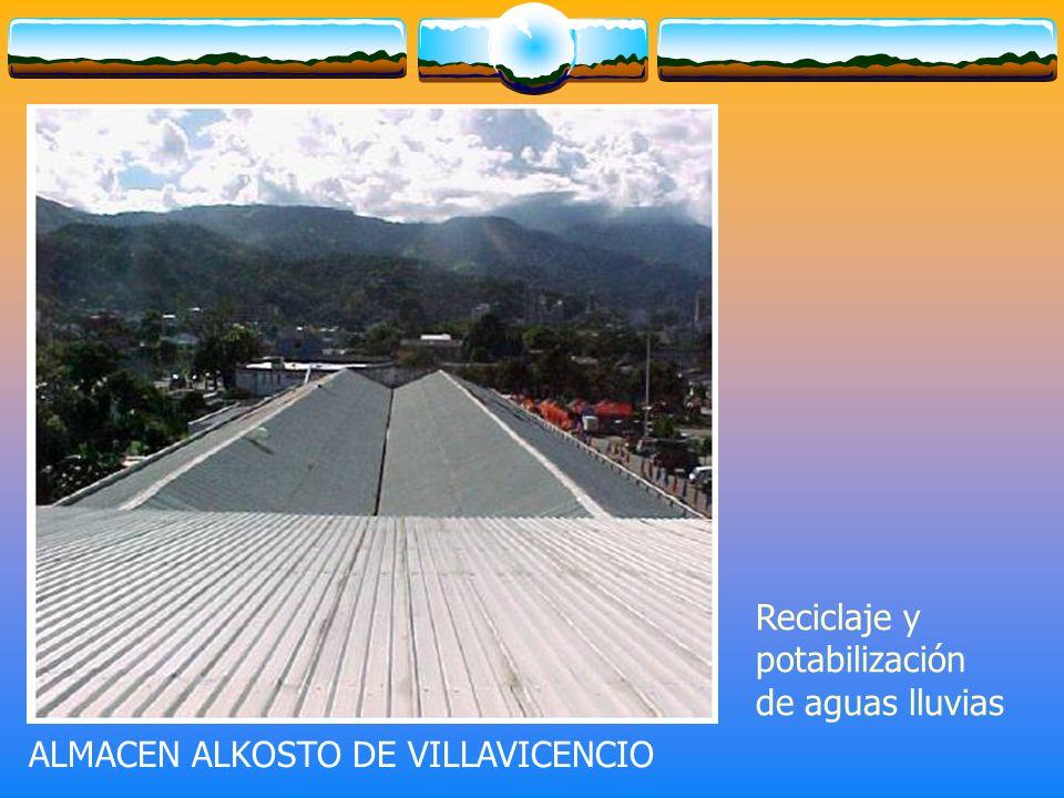 ALMACEN ALKOSTO DE VILLAVICENCIO Reciclaje y potabilización de aguas lluvias