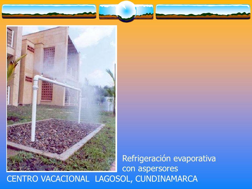 CENTRO VACACIONAL LAGOSOL, CUNDINAMARCA Refrigeración evaporativa con aspersores